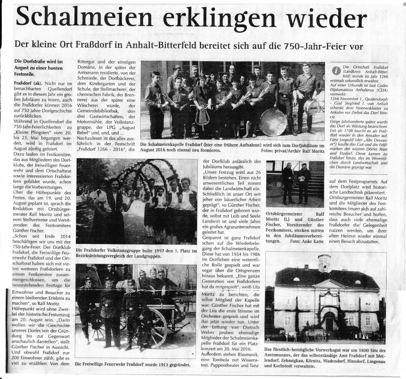 1 Wochenspiegel 11.05.2016 Schalmeien spielen wieder